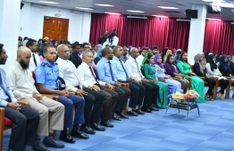 President Solih and government officials attending the ceremony. PHOTO: PRESIDENTS OFFICE