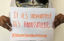 A poster against sexual harassment. PHOTO: MIHAARU