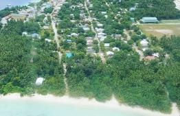 The island of Mulah, Meemu Atoll. PHOTO: MIHAARU FILES.