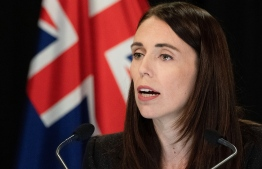 New Zealand Prime Minister Jacinda Ardern speaks to the media during her post cabinet press conference at Parliament in Wellington on March 25, 2019. (Photo by Marty MELVILLE / AFP)