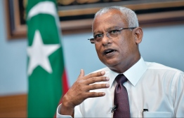 President Ibrahim Mohamed Solih during the exclusive interview given to local media Mihaaru. PHOTO: NISHAN ALI / MIHAARU