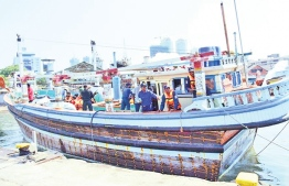 The vessel used to transfer 175 kilos of heroin to Maldivian boats. PHOTO: DAILY NEWS