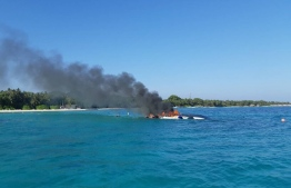 The speedboat that was involved in the accident. PHOTO: MIHAARU