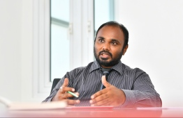 Managing Director of SME Financial and Development Corporation (SDFC). PHOTO: HUSSAIN WAHEED/MIHAARU