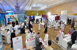 Tour operators and destination representatives advertise various tourism opportunities at Riyadh Travel Fair 2019. PHOTO: MATATO