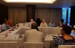 The team of Commonwealth observers holding a meeting with some independent candidates. PHOTO: MIHAARU