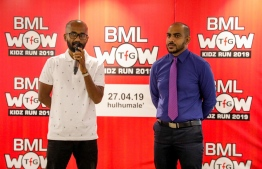 BML and TFG announce the WoW Kidz Run, which will be held April 27 in Hulhumale'. PHOTO/BML