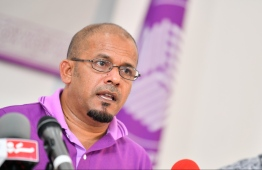 President of Elections Commission (EC) Ahmed Shareef. PHOTO: HUSSAIN WAHEED / MIHAARU