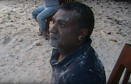 A screenshot photo of Abdulla Jabir during the Hondaidhoo raid. PHOTO: MALDIVES POLICE SERVICE