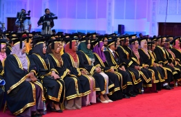 Graduates of Maldives National University (MNU). PHOTO: PRESIDENT'S OFFICE