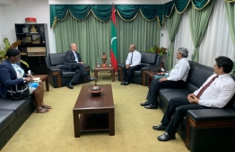 Members of the Commonwealth team sent to observe the 2019 parliamentary election meeting Minister of Foreign Affairs Abdulla Shahid. PHOTO: MINISTRY OF FOREIGN AFFAIRS