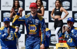 Alexander Rossi after  won his second straight Grand Prix of Long Beach race. PHOTO: IndyCar