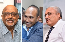 Vice Presidents Mohamed Waheed Deen (L), Dr Mohamed Jameel (C) and Abdulla Jihad. PHOTO: MIHAARU FILES