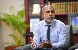 Minister of Islamic Affairs Dr Ahmed Zahir. PHOTO: NISHAN ALI / MIHAARU