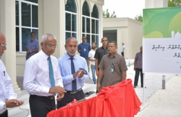 President Ibrahim Mohamed Solih and Minister of Islamic Affairs Dr Ahmed Zahir. PHOTO: PRESIDENT'S OFFICE