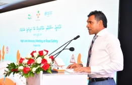 Vice President Faisal Naseem during the High Level Advocacy Meeting on Road Safety held April 18, 2019. PHOTO: PRESIDENT'S OFFICE