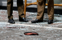 A photograph taken following the Easter attack bombings. PHOTO: MIHAARU FILES