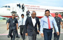 President Ibrahim Mohamed Solih returns from visit to India. PHOTO: PRESIDENTS OFFICE