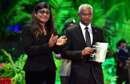 127th Anniversary of MNDF President Ibrahim Mohamed Solih and Minister of Defence and National Security Mariya Ahmed Didi PHOTO: NISHAN ALI/MIHAARU