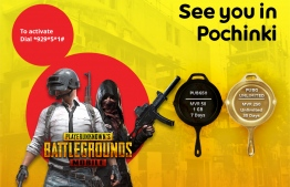 Promotional poster for Ooredoo Maldives' new range of data packs for PUBG players. PHOTO/OOREDOO MALDIVES