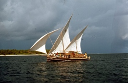 A sail dhoni (traditional boat) of Maldives in the '70s. PHOTO: FRANK BURNABY