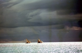 Sail dhoni (traditional boats) in the distance. PHOTO: FRANK BURNABY
