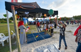 Children take part in the festivities at the festival. PHOTO:  HUSSAIN WAHEED/ MIHAARU