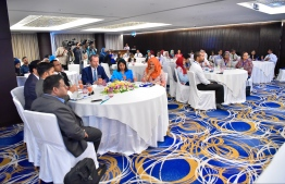 Guest of honours, partners and participants pictured during the celebration of World Press Freedom Day 2019. PHOTO: HUSSAIN WAHEED / MIHAARU