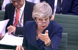 A video grab from footage broadcast by the UK Parliament's Parliamentary Recording Unit (PRU) shows Britain's Prime Minister Theresa May speaking on Brexit at a Parliamentary Liaison Committee hearing on May 1, 2019 at the House of Commons in London.  PRU / AFP