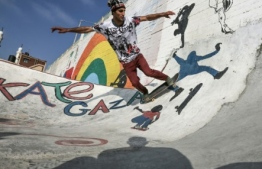 A skateboard park has opened in Gaza City, the first and only full skate park in the Palestinian enclave A skateboard park has opened in Gaza City, the first and only full skate park in the Palestinian enclave. PHOTO: AFP