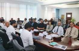 The briefing held at the Ministry of Foreign Affairs for officials from the Diplomatic Corps regarding the Maldives Partnership Forum. PHOTO: MINISTRY OF FOREIGN AFFAIRS