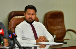 Mus'ab Abdulla was dismissed at the Permanent Secretary for Ministry of Islamic Affairs on September 10, 2019. PHOTO: HUSSAIN WAHEED/MIHAARU.