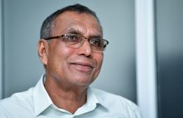 Former Home Minister Hassan Afeef. PHOTO: NISHAN ALI/ MIHAARU.