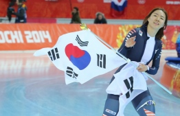 Double Olympic speed skating champion and reigning world record holder Lee Sang-hwa. PHOTO: YONHAP NEWS AGENCY