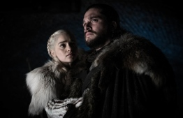 The characters of Daenerys Targaryen (L) and Jon Snow in 'Game of Thrones'. PHOTO: Helen Sloan/AP