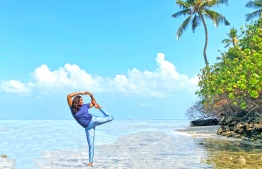 Local Yoga Master Shifana Mufeed. PHOTO: COCO COLLECTION