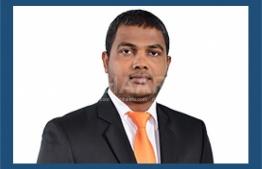 Board member Maldives Transport and Contracting Company (MTCC) Sinan Ali. PHOTO: MIHAARU