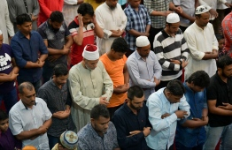 June 4, 2019, Male' City: Prayer congregation on the morning of Eid al-Fitr. PHOTO: HUSSAIN WAHEED / MIHAARU