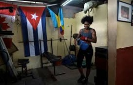 Women boxers striking a blow for equality in Cuba. PHOTO: AFP