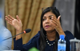 At the emergency meeting held by the Parliament Committee for Human Rights and Gender held Friday evening, MP Rozaina expressed concern that relevant authorities have failed to take required actions against reported cases of sexual violence. Photo: Mihaaru News