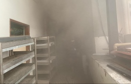 Some batteries in IGMH engine room caught fire. PHOTO: MIHAARU
