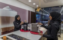 Employees preparing coffee at Nespresso Showroom. PHOTO: LIQUID PVT LTD