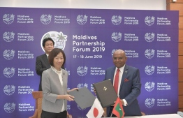 The Maldivian government signed an agreement with Japan to expand the services of Maldives National Defence Force (MNDF). PHOTO: FOREIGN MINISTRY