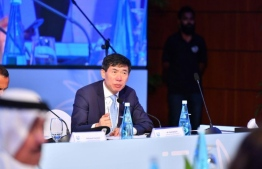 United Nations Assistant Secretary General Haoliang Xu at the Maldives Partnership Forum. PHOTO: MINISTRY OF FOREIGN AFFAIRS