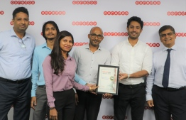 Ooredoo Maldives at the Telecom Asia Awards 2019. PHOTO: OOREDOO MALDIVES