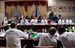 Judicial Service Commission members at a parliamentary committee. PHOTO: MIHAARU