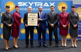 Qatar Airways team at Skytrax World Airline Awards. PHOTO: QATAR AIRWAYS