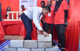 Vice President Faisal Naseem inaugurated the 'Hunaruveri 2019', held at Dharubaaruge Convention Centre. PHOTO: PRESIDENT'S OFFICE