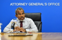 Attorney General Ibrahim Riffath. PHOTO: HUSSAIN WAHEED / MIHAARU
