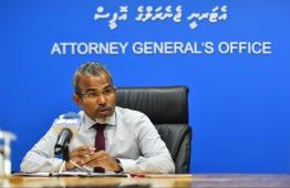 Attorney General Ibrahim Riffath. PHOTO: HUSSAIN WAHEED/ MIHAARU